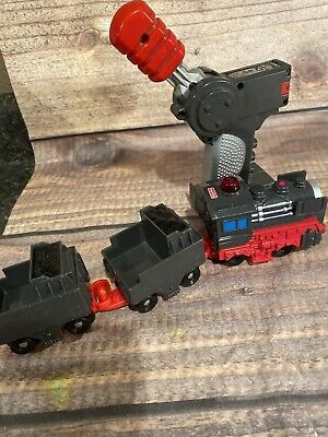 Fisher Price GeoTrax Train Engine Gray Black Red Mining Coal Workin Town