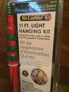 No Ladder PRO 11 ft. Trigger Light Hanging Kit