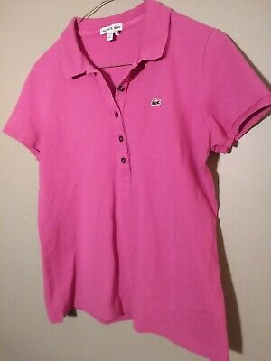 Lacoste Polo Shirt Size 40 Womens short sleeved cotton W36xL23