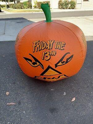 Friday The 13th Video Store Display Pumpkin Rare Jason Hockey Mask - Jason Mask Original