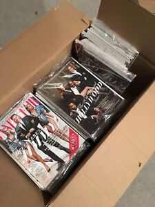 Box of Vanity Fair and Vogue Magazines