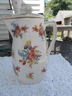 Vintage (Made in Japan) floral creamer pitcher with lid