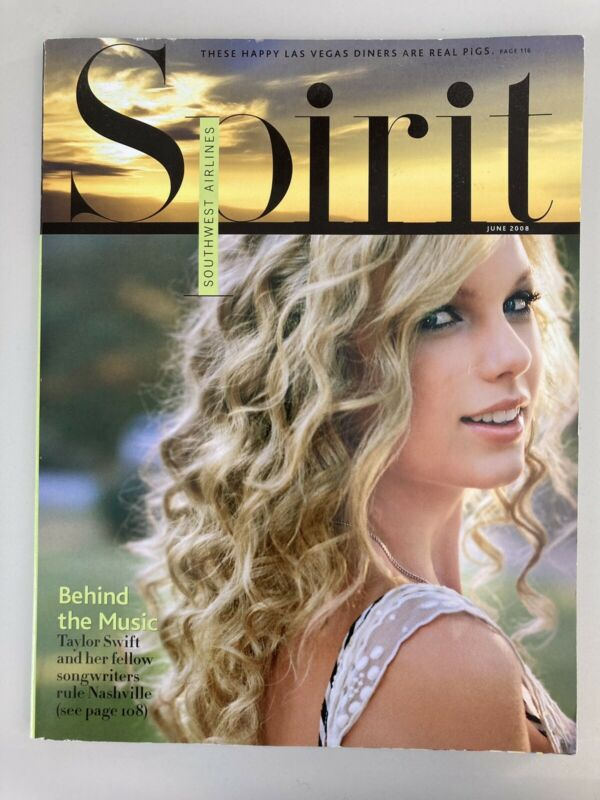Taylor Swift - Southwest Airlines Spirit Magazine June 2008 - Behind the Music