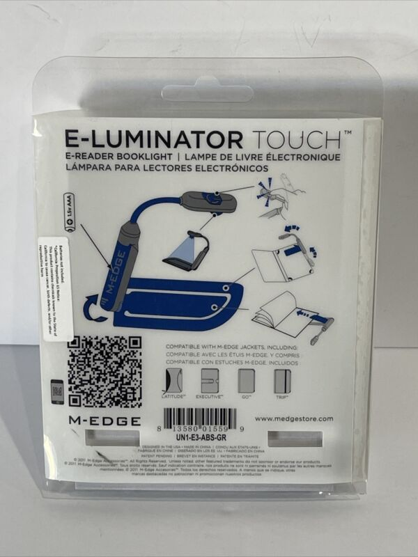 M-EDGE E-Luminator Touch E-Reader Booklight - NEW