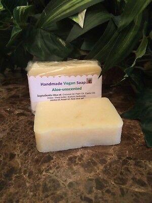 Unscented ALOE soap shampoo body bar Handmade Natural
