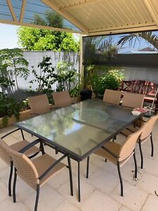 Outdoor table (large) plus 8 chairs