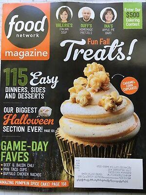 Halloween Food 2017 (Food Network Magazine Oct 2017 Big Issue! Fun Fall Treats,)