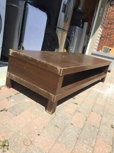 3 solid coffee tables