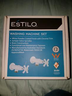 Washing machine tap set