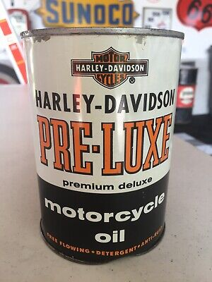 Full Harley Davidson Pre-Luxe Motorcycle Oil Can