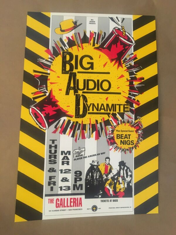 Big Audio Dynamite poster 1987 Graham Vintage Not Clash Original 1st