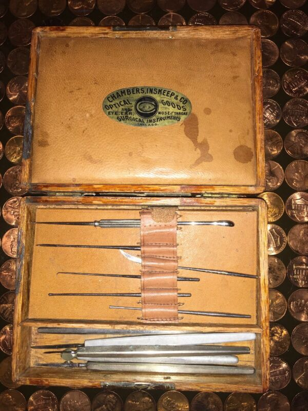 ANTIQUE VINTAGE SURGICAL INSTRUMENTS Chambers, Inskeep & CO Optical Goods