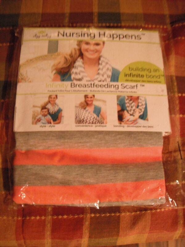 Itzy Ritzy Nursing Happens Infinity Breastfeeding Scarf Baby Guy Orange NEW