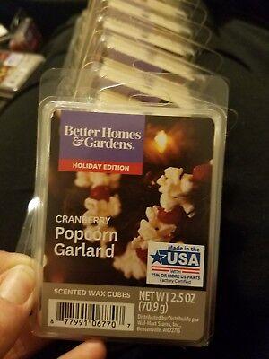 - Lot 4 Better Homes & Gardens Scented Wax Cubes/ Melts: Cranberry Popcorn Garland