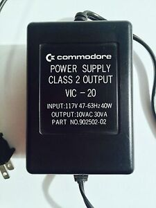VINTAGE COMMODORE POWER SUPPLY CLASS 2 OUTPUT VIC-20