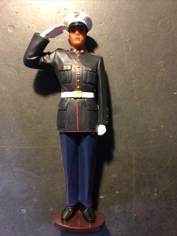 Asian Pacific Imports USMC Marine Corp Dress Blue Statue Figure