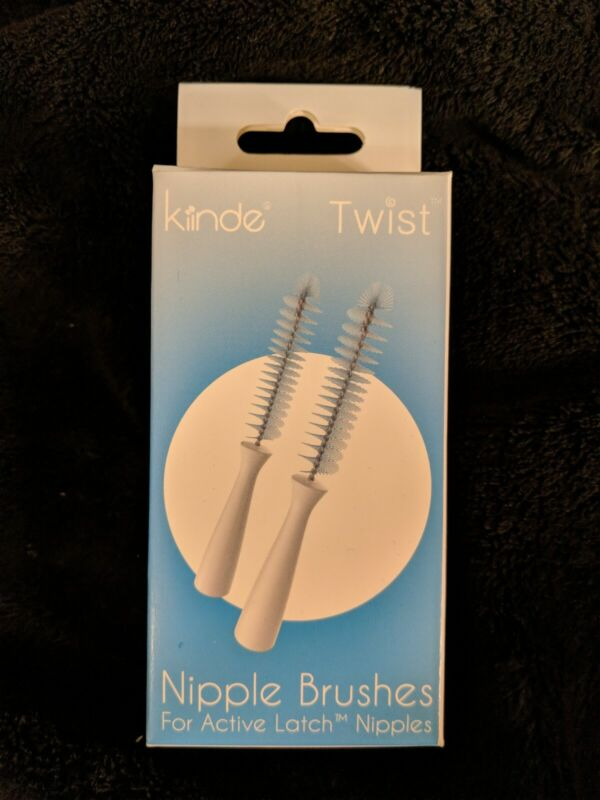 Brand New in Box! Kiinde 2 Pack Nipple Cleaning Brushes. Authentic.