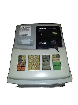 Sharp Xe-a102 Electronic Cash Register With Keys And Manual