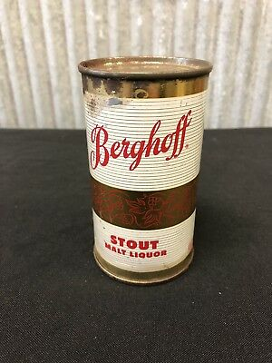 Scarce Berghoff Stout Malt Liquor Flat Top Beer Can Fort Wayne IN No Reserve