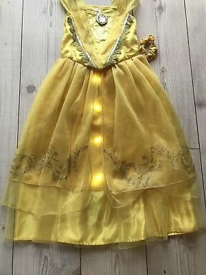 Beauty and Beast Belle Golden Costume Disney Light Up Musical Age 9/10 Years - Belle Musical Kostüm