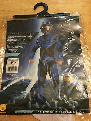 Halo Deluxe Blue Spartan Mark VI Adult Costume with Helmet (X-Small - Blue Spartan Kostüm
