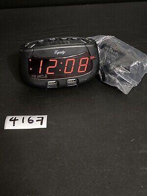 30416 Equity by La Crosse 0.9 Red LED Display Digital Alarm Clock - Refurbished