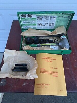 Driver Assembly-punch Knockout Set 12-2 19041906 34216 By Greenlee Vwu