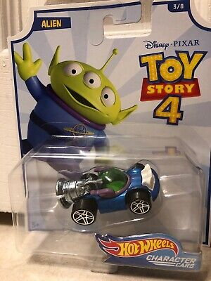 Disney Toy Story 4 Hot Wheels Character Cars Wave 1 ALIEN NEW