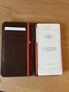 iPhone 6 Leather Case/Wallet (Fossil)