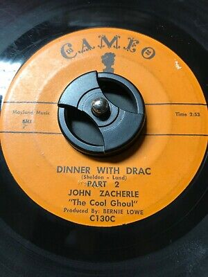 "John Zacherle 45 ""Dinner with Drac Part 1&2"" Halloween Novelty SEE & HEAR!"