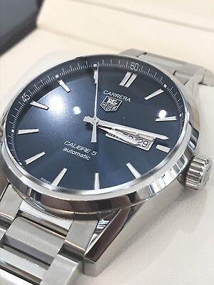 Tag Heuer Men's Carrera Calibre 5 Day-Date Automatic Blue Dial WAR201E.BA0723