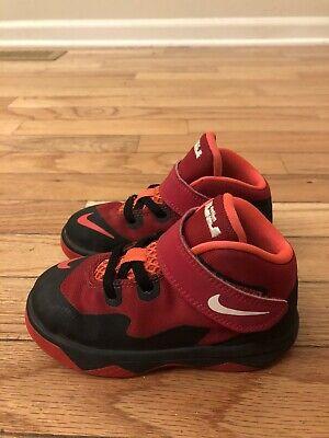 Nike LeBron Soldier VIII Black Crimson Infant Shoes Size 8C