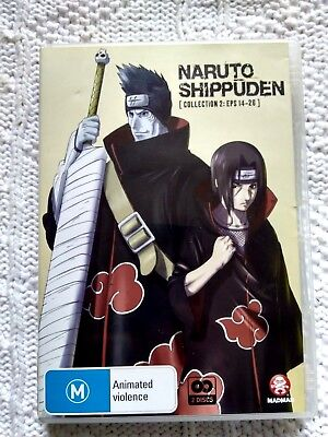 NARUTO SHIPPUDEN –COLLECTION -2 EPISODES-14-26, DVD, 2-DISC, REGION-4         for sale  Shipping to Canada