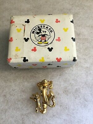Vintage Disney TIGGER and PIGLET Gold Tone Pin Brooch