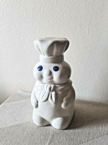 "Vintage 2002 PILLSBURY DOUGHBOY Cookie Jar White 10"" Tall Benjamin & Medwin"
