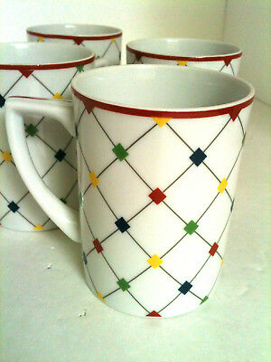 Taitu Quadri Porcelain China Coffee Tea Mugs 4 Pc Set Japan for sale  Allen