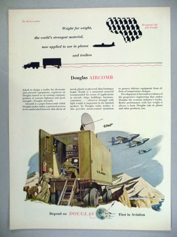 Douglas Aircraft PRINT AD - 1953 ~~ Aircomb