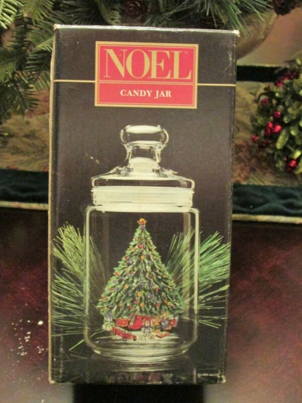 NOEL PORCELLE CANDY JAR - MATCHES SALEM CHINA CHRISTMAS EVE