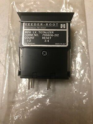 Veeder-root Mini Lx Totalizer Digital Counter 799806-212 Count1-2 Reset3-4