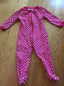 6 zipper sleepers girls size 6-12 months