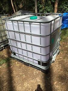 1000L Plastic IBC Containers for bulk liquid storage  (FOOD GRADE Capalaba Brisbane South East Preview