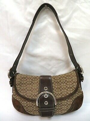 Coach #6818 Signature Logo Flap Soho Bag - Tan/Brown Soho Signature Flap