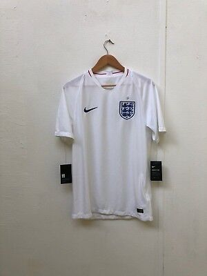 Nike England Football Men's 2018 World Cup Shirt - White - Various Sizes - New