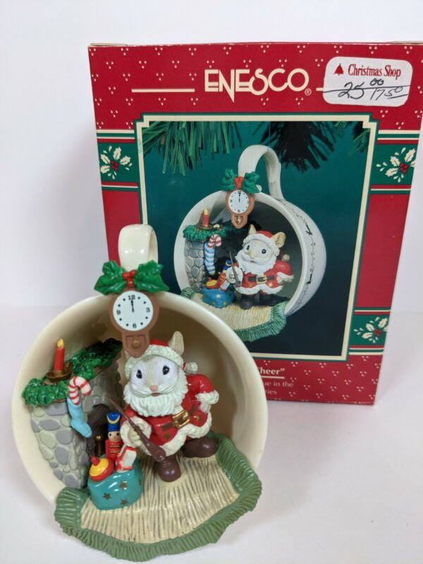 """VTG ENESCO CHRISTMAS COZY CUP SERIES ORNAMENT """"A CUP OF CHEER"""" 10TH/FINAL 135070"""