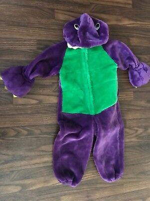 Barney Purple Dinosaur Halloween Costume Warm Kids Child Medium  4/5 Enchanted](Barney Halloween Costume)