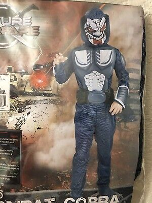Costumes For 10 Year Olds (Future Warfare Combat Cobra Boys Costume Size L(12-14) For 8-10 Years Old)