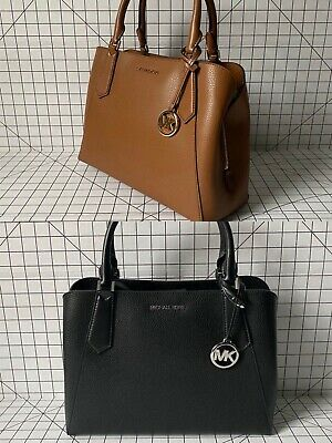 NWT Michael Kors Kimberly Large EW Leather Satchel Crossbody Bag