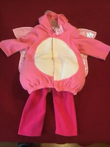 Costume d'halloween papillon rose