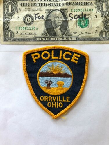Orrville Ohio Police Patch pre-sewn in great shape