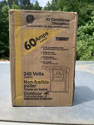 Ge Non-fuse Metallic Ac Disconnect 60 Amp 240-volt Switch Box Power Enclosure